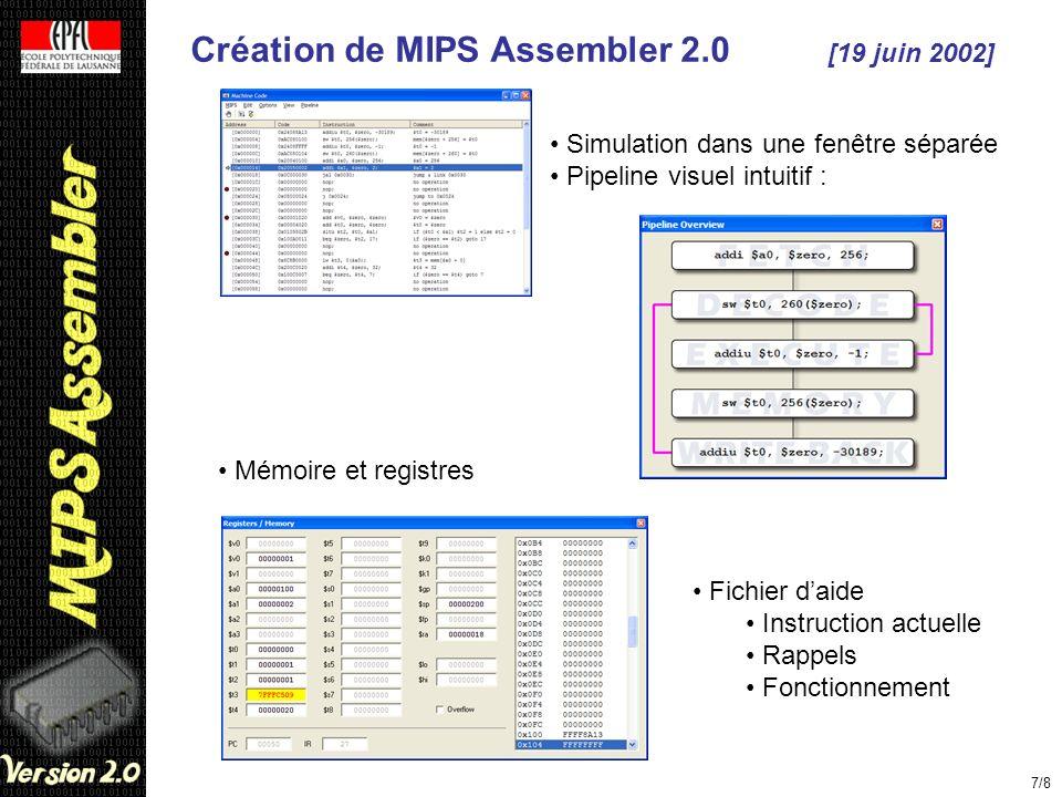 Création de MIPS Assembler 2.0 [19 juin 2002]